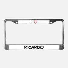 I Love ricardo License Plate Frame