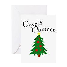 Slovak Christmas Tree Greeting Card