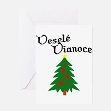Slovak Christmas Tree Greeting Card