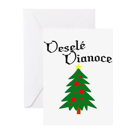 Slovak Christmas Tree Greeting Cards (Pk of 10)