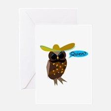 Quien Owl Greeting Card