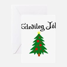 Icelandic Christmas Tree Greeting Card