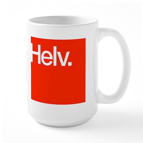 Helvetica Large Mug