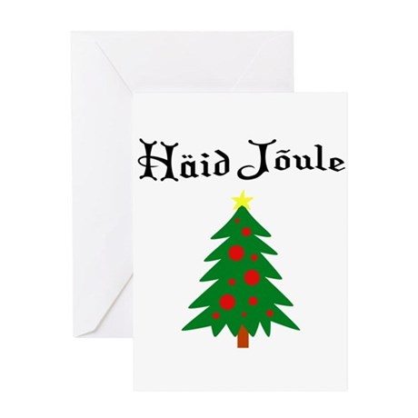 Estonian Christmas Tree Greeting Card