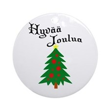Finnish Christmas Tree Ornament (Round)