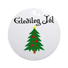 Icelandic Christmas Tree Ornament (Round)