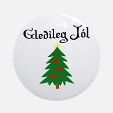Icelandic Christmas Tree Ornament (Round)