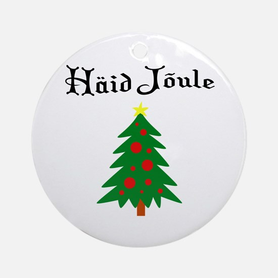 Estonian Christmas Tree Ornament (Round)