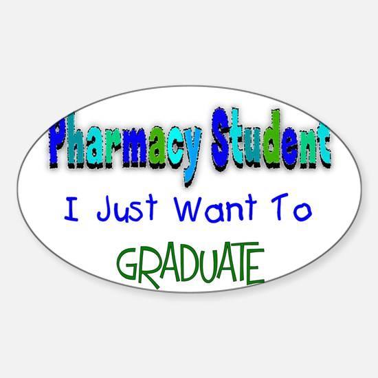 pharmacists II Oval Decal
