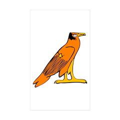 Egyptian Eagle Rectangle Sticker 10 pk)