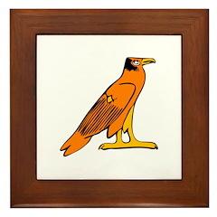Egyptian Eagle Framed Tile