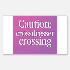 Crossdresser Crossing Rectangle Decal