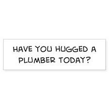 Hugged a Plumber Bumper Car Sticker