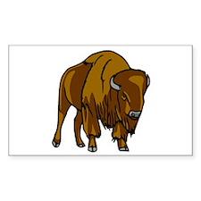 American Bison/Buffalo Rectangle Decal