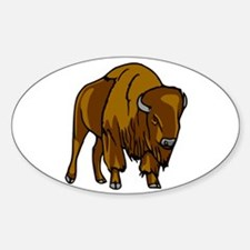 American Bison/Buffalo Oval Decal