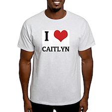 I Love Caitlyn Ash Grey T-Shirt