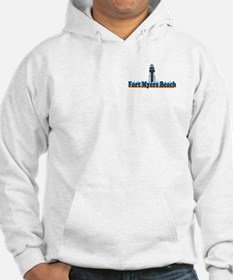 Fort Myers Beach FL - Lighthouse Design Hoodie