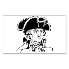 George Washington Rectangle Decal