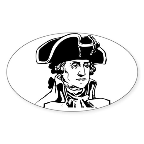 George Washington Oval Sticker