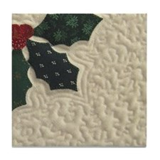 Holly Berry Tile Coaster