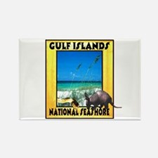 Gulf Islands National Seashor Rectangle Magnet