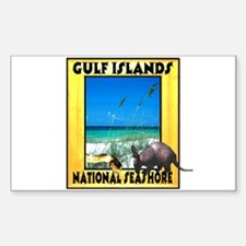 Gulf Islands National Seashor Rectangle Decal