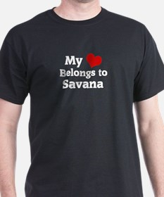 My Heart: Savana Black T-Shirt