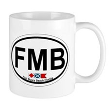 Fort Myers Beach FL - Oval Design Mug