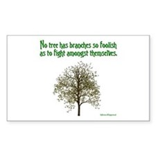 Foolish Branches Rectangle Decal