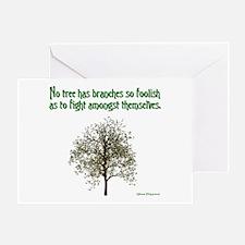 Foolish Branches Greeting Card