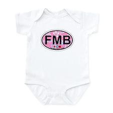 Fort Myers Beach FL - Oval Design Infant Bodysuit