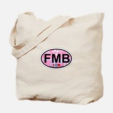 Fort Myers Beach FL - Oval Design Tote Bag
