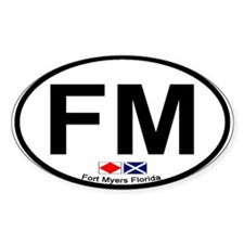 Fort Myers FL - Oval Design Oval Decal
