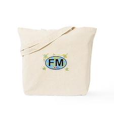 Fort Myers FL - Oval Design Tote Bag