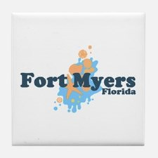 Fort Myers Beach FL Tile Coaster