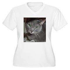 Gray Cat Love T-Shirt