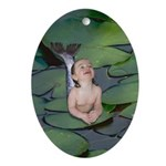 Garden Baby Mermaid Oval Ornament