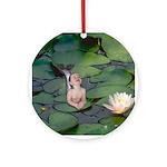 Garden Baby Mermaid Ornament (Round)