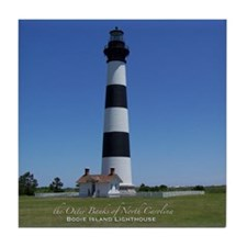 Bodie Island Lighthouse Tile Coaster