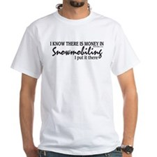 Money in Snowmobiling Shirt