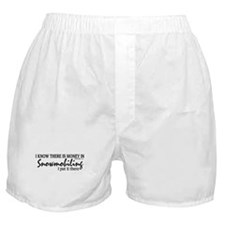 Money in Snowmobiling Boxer Shorts