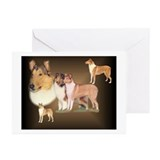 Smooth and rough collie art Greeting Cards (10 Pack)