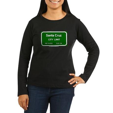 Santa Cruz Women's Long Sleeve Dark T-Shirt
