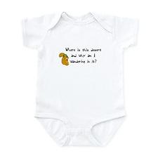 Chia Pet Squirrel Funny Infant Bodysuit