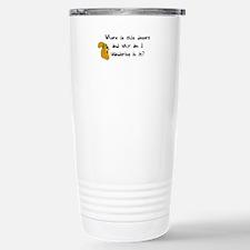 Chia Pet Squirrel Funny Travel Mug