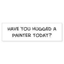 Hugged a Painter Bumper Bumper Sticker