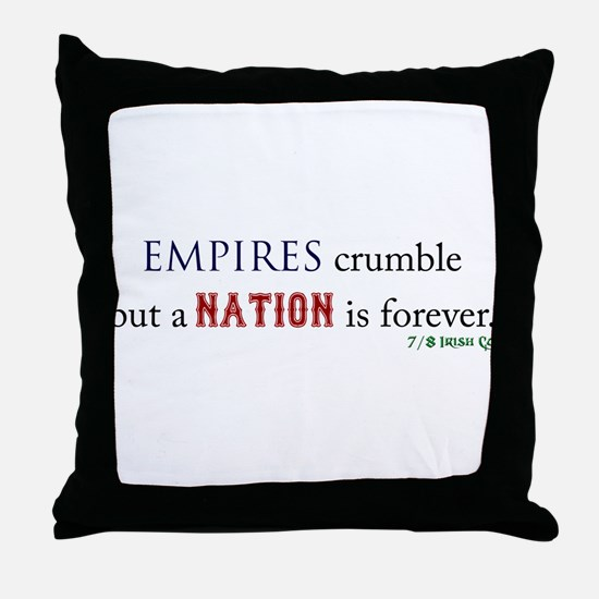 Empires Crumble Throw Pillow