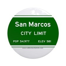 San Marcos Ornament (Round)