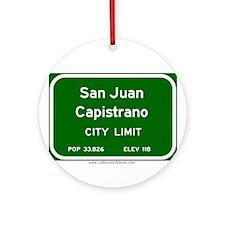 San Juan Capistrano Ornament (Round)