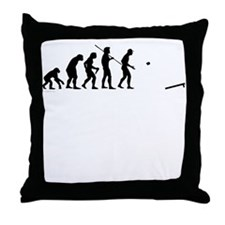 Evolution of Cornhole Throw Pillow